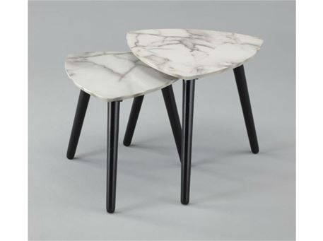ALEMANNO - Set Of Two Nesting Tables With A Marble-Like Finish