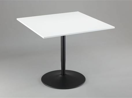 PADILLA - Square Dining Table With Black Center Base