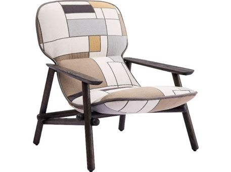 H4-2151 - Comfy Patchwork-Like Design Leisure Chair