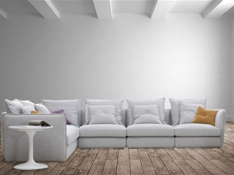 HA648 - Grey Modular L-Shape Sofa