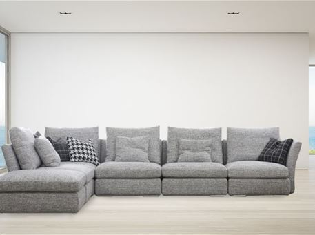 HA643 - Grey Modular L-Shape Sofa