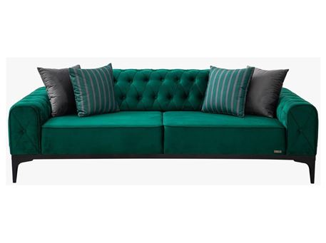 LOTUS - Green 3 Seater Sofa