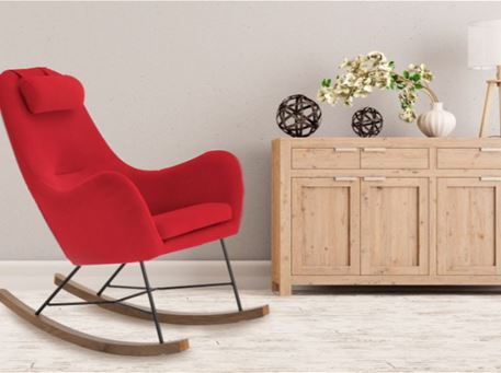 J1660-2 - Fabric Rocking Chair