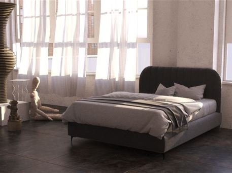 CYRILLE - Queen Size Local Bed With Upholstered Heardboard