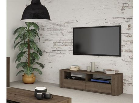 RITTA - Low Oak Tv Cabinet