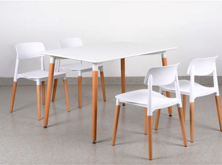201B - Compact Dining Table With Chairs