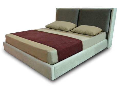 RIGA - King Sized Bed With Upholstered Headboard