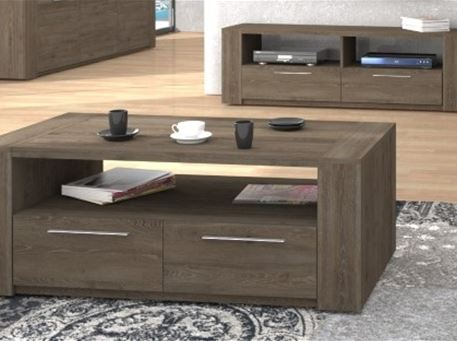 RITTA - Oak Center Table With Storage Drawer