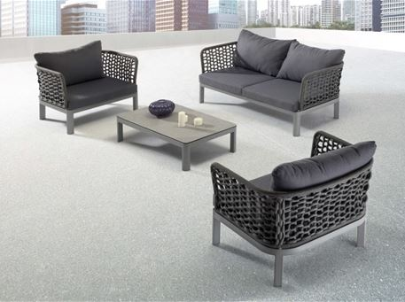 BLOOM - Modern Grey Outdoor Living Set