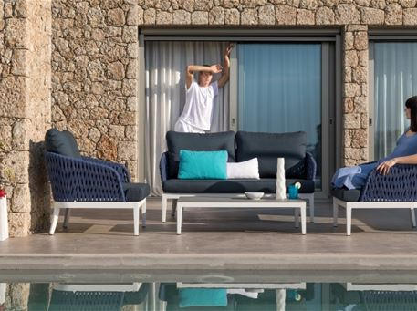 BUENOS - Modern Grey Outdoor Living Set