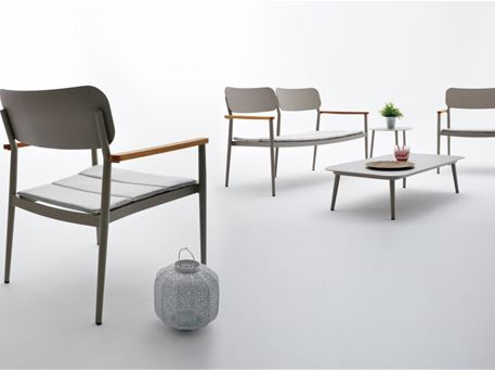 DOMINGO - Grey Aluminum Outdoor Living Set