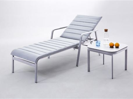SANTAN - Aluminum Sun-lounge With Wheels
