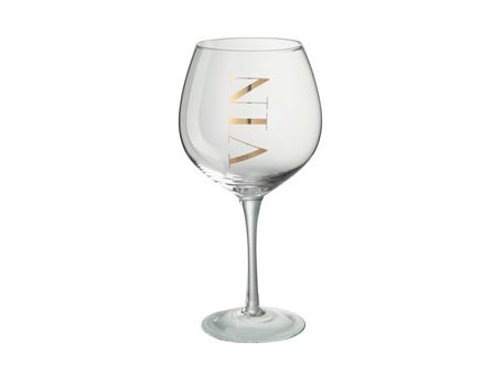 68622 - Wine Glass Transparent/Gold