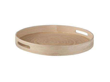 70109 - Plate Round Bamboo Natural