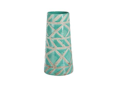 71279 - Vase Mexico Terracotta Light Blue