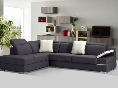 PORTER - Modern Grey L-Shaped Sofa