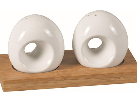 HT910757W - Salt And Pepper With Bamboo Base