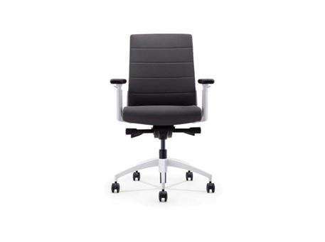 ZM-411BL-2 - Medium Back Excutive Chair With Fixed Headrest