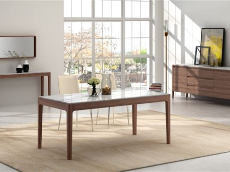 247 - Dining Table With White Marble Top