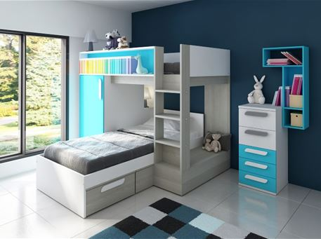 LENON - Kids Bunkbed Bedroom Set