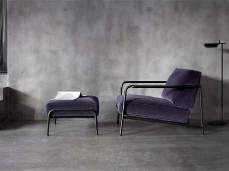 AERO - Modern Wide Grey Armchair