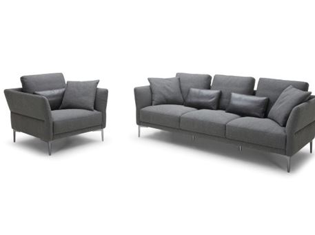 COSBY - Genuine Leather Sofa Set