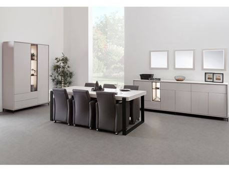 MODULO - Modern Grey And Black Dining Set