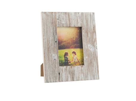 75421 - Photo Frame Square Wood White Wash