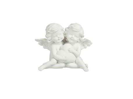 78644 - Angel Couple With Heart Poly White