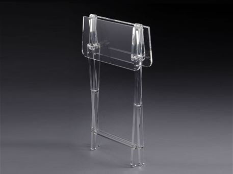 OSLO - Square Clear Foldable Side Table