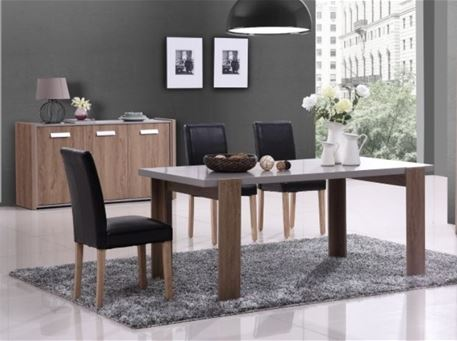 DAVIS - Oak & Grey Dining Room Set