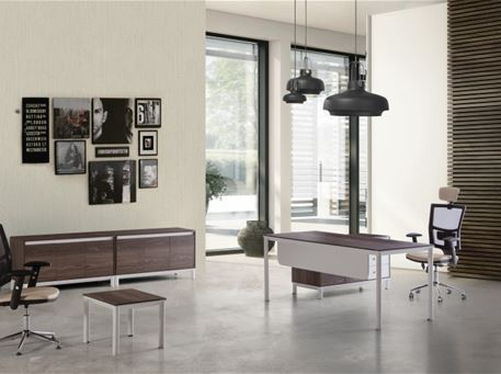 LUNA - Office Desk With Meeting Table