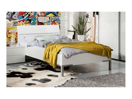 KYRIL - Glossy White Single Bed