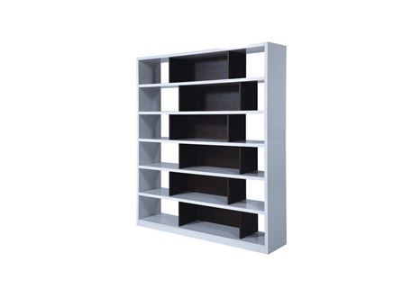 H5750 - White and Oak Shelving Unit