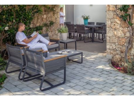 RINGGE-LIVING - Grey Compact Outdoor Living Set
