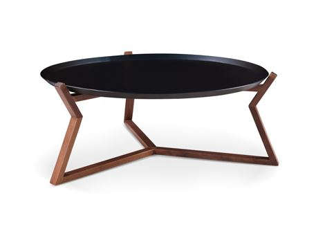 C16010 - Round Center Table With Black Metal Top