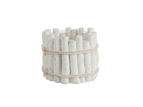 82673/74 - Candleholder Cement White