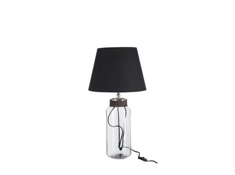66012 - Lampfoot+Shade Cylinder+Wire Glass/Aluminium Transparent