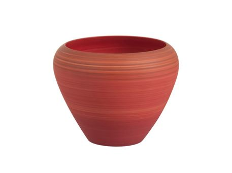 82531 - Cachepot Degrade Round Ceramic Red Large