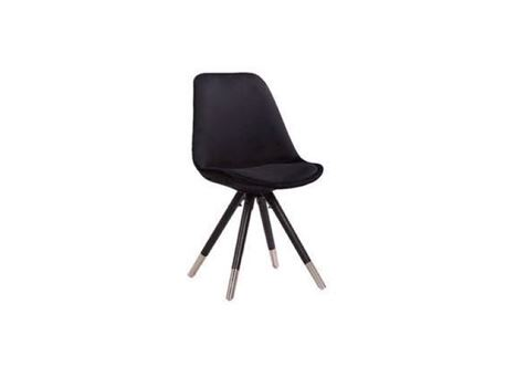 A01-0L - Black Kitchen Chair, Fabric Cover