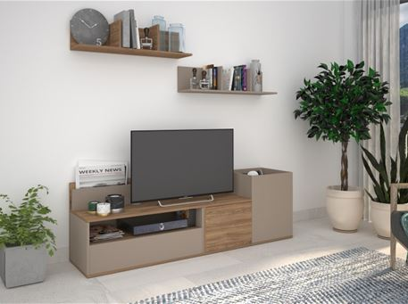 COMP-404142 - Simple Modern Tv Cabinet With 2 Shelves.