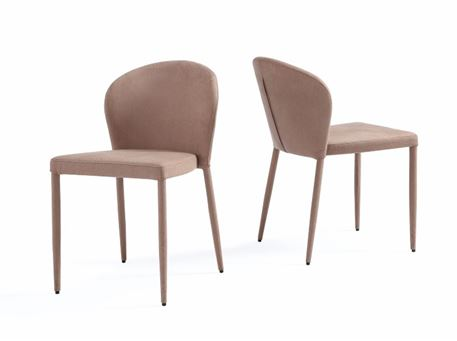 C3486 - Nubuk Upholstered Dining Chair