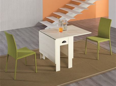 B2393 - Natural Oak Space Saving Dining Table