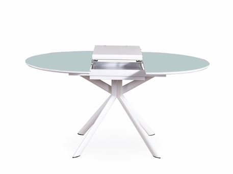 B2401 - Round White Dining Table With Extension