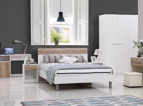 ALEC - White Single Bedroom Set
